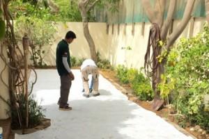 artificial turf installation process in Dubai