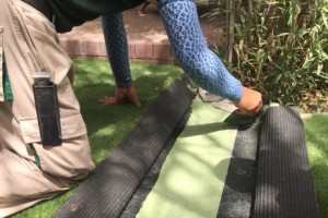 applying gue for artificial grass installation