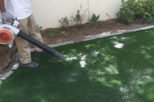 Finishing process for fake turf Dubai