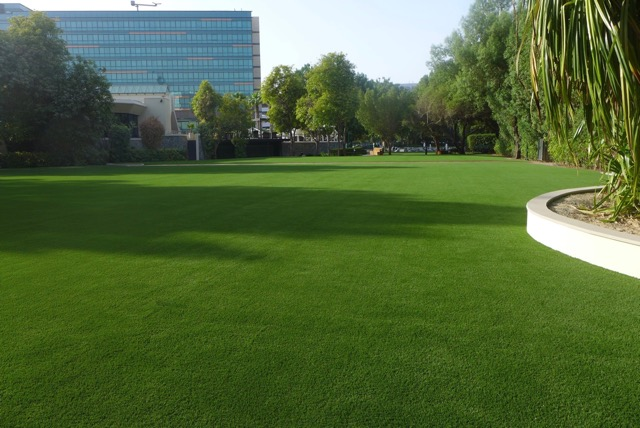 Fake Grass Installed in Jumeirah Creekside Hotel, Dubai