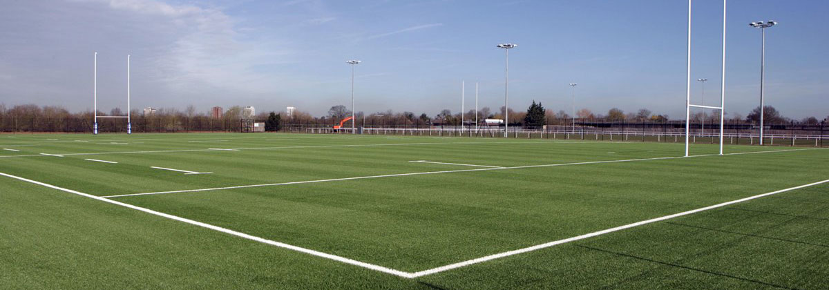 installation of london irish artificial grass pitch