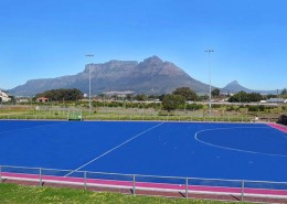 middle east hockey pitch installation
