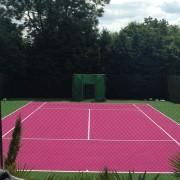 Pink Wimbledon Tennis Court