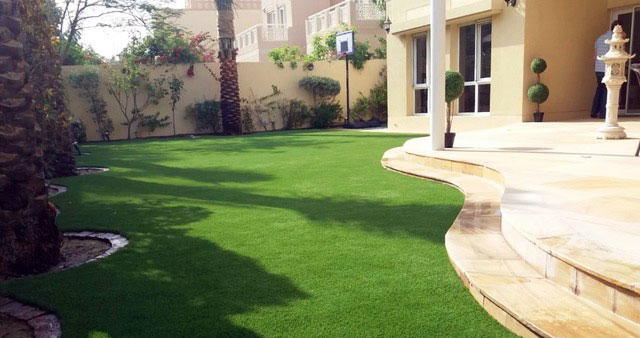 arabian ranches artificial grass installation