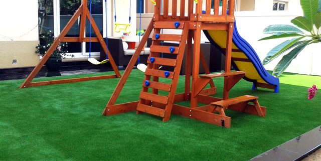 the springs artificial grass installation