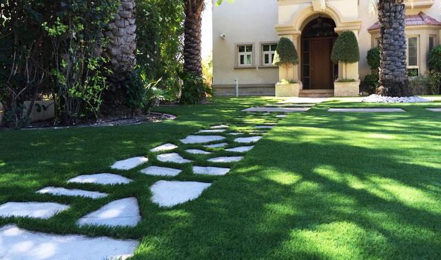 synthetic grass garden villas