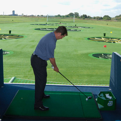 driving range with artificial grass