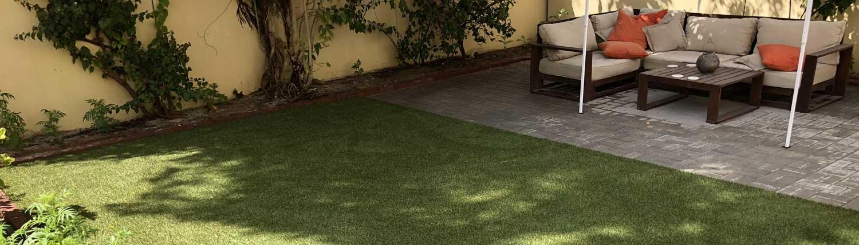 fake grass installation in springs dubai
