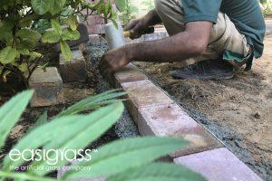 installing fake grass step 6