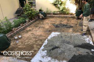 installing artificial grass step 8